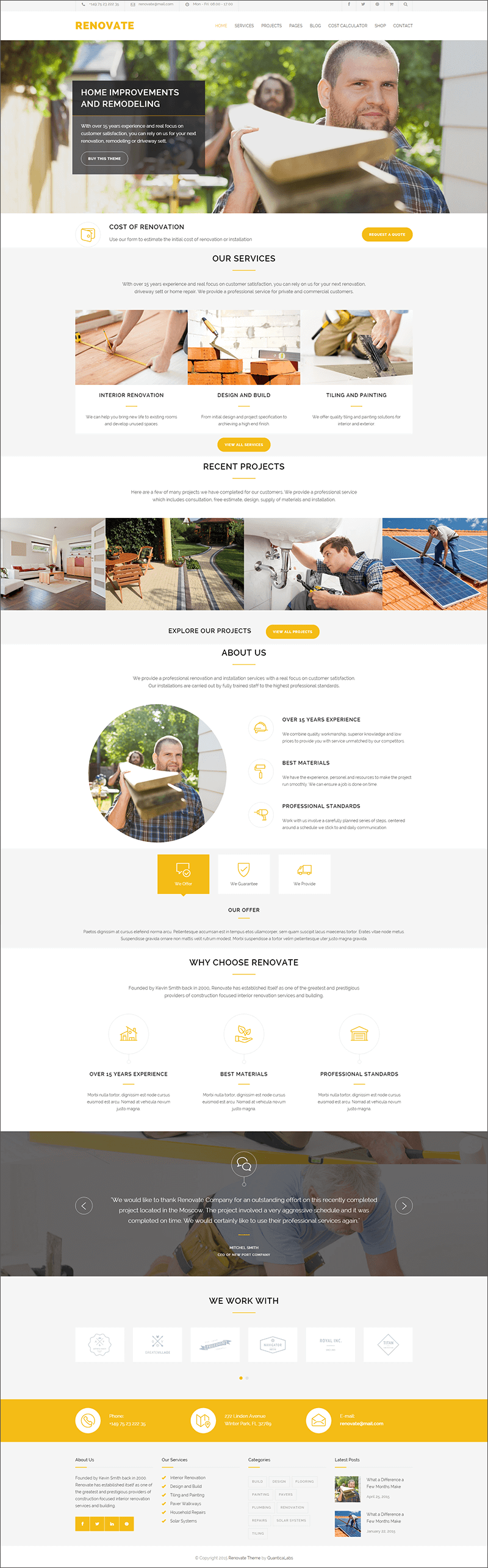 Roofing Responsive WordPress Theme