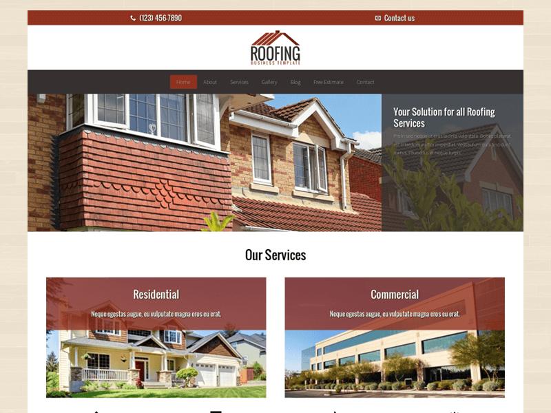 Roofing WordPress Theme