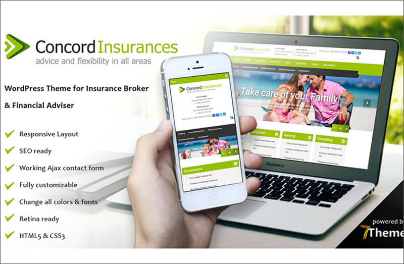 SEO Optimized Financial Services WordPress Theme