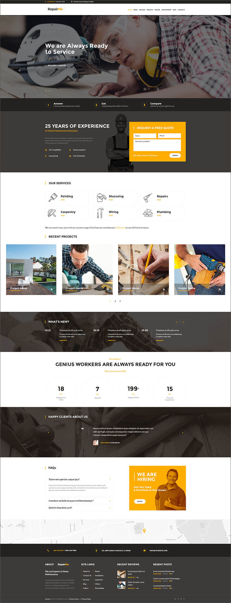 SEO Optimized Renovation Company WP Theme