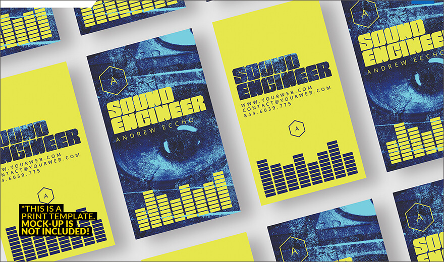Sound Engineer Business Card PSD