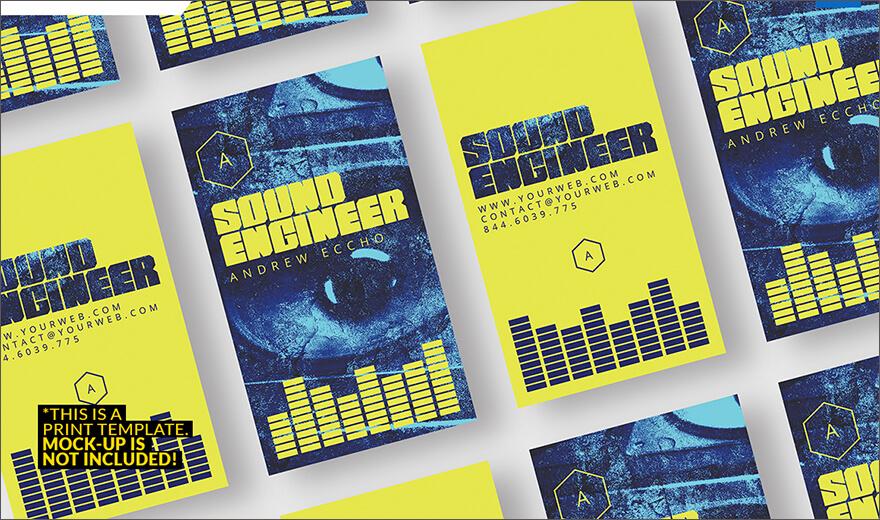 Sound Engineer Business Card PSD