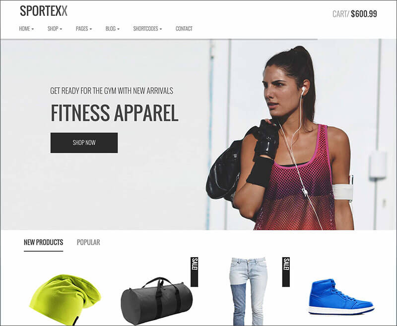 Sports & Gym Fashion WooCommerce Theme