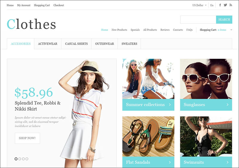 Summer Fashion Zen Cart Template