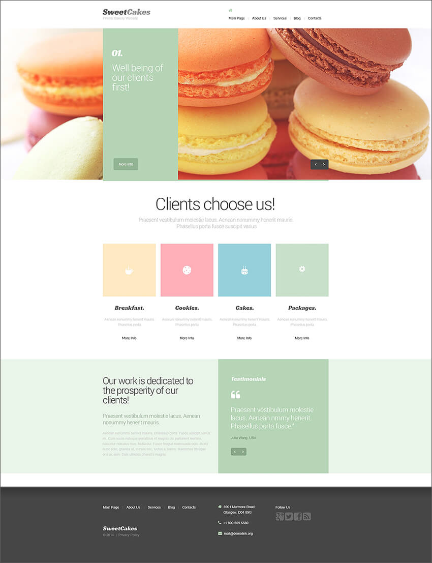 Sweet Shop Drupal Template