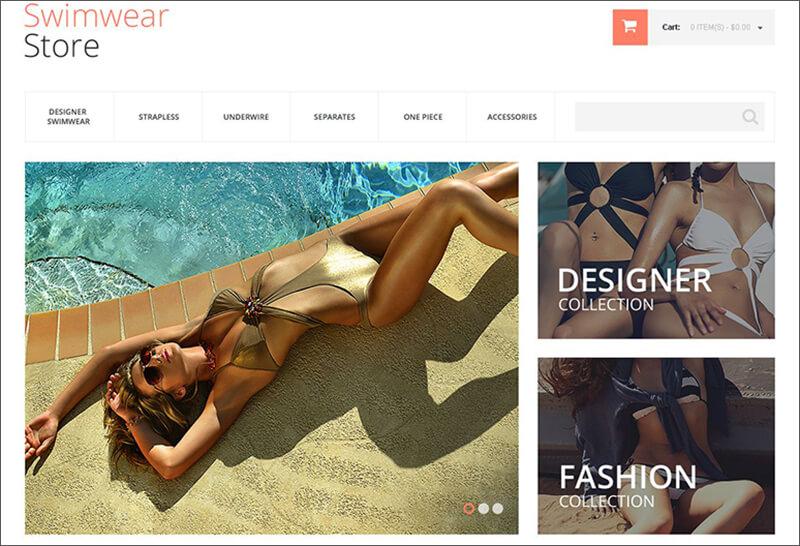 Swimwear Magento Bootstrap Theme
