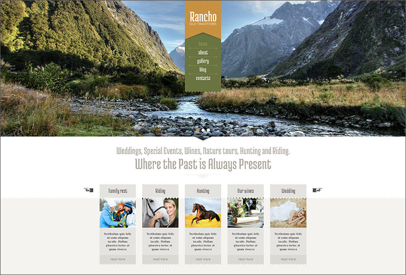 Travel Blog Drupal Template