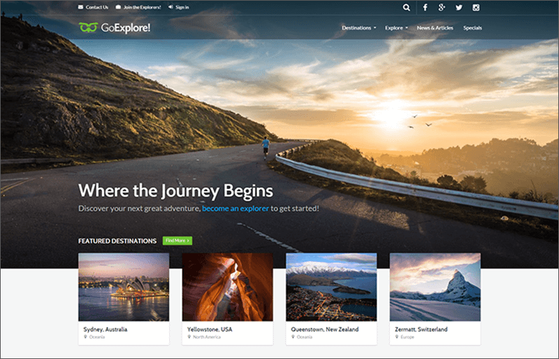 Travel Blog HTML Template