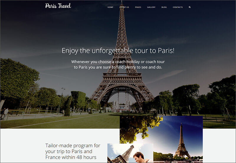 Travel Blog Joomla Template