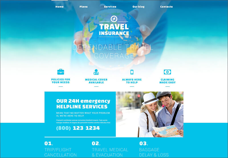 Travel Blog Joomla Theme