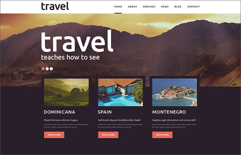 Travel Blogging Joomla Template