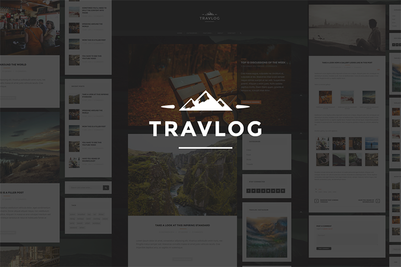 Traveler Blogging WP Theme