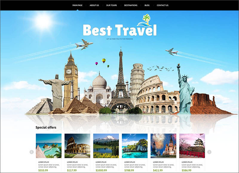 Travelers Blog Joomla Template