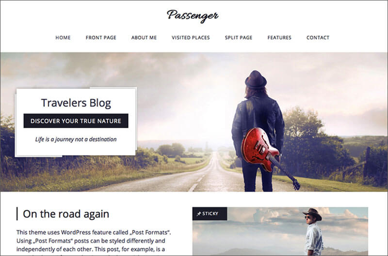 Travelers Blog WordPress Theme
