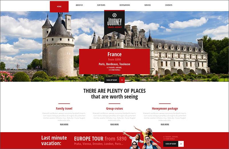 Travelling Blog Joomla Template
