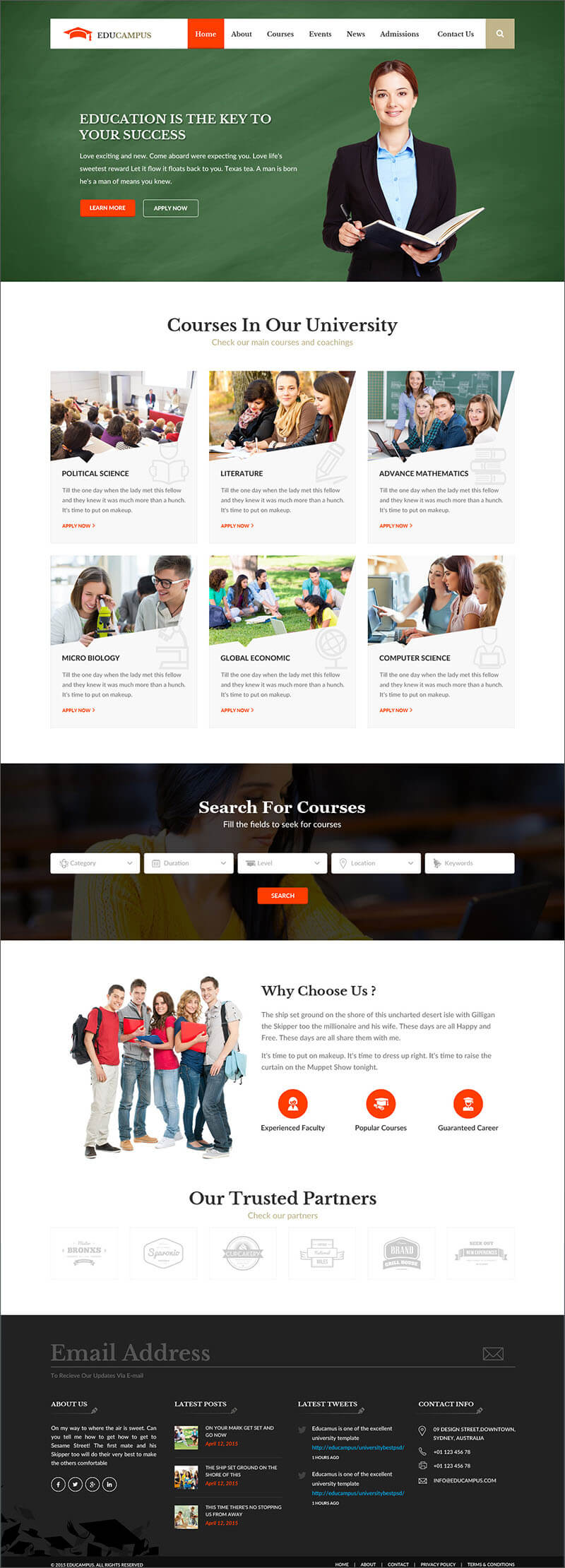 University Bootstrap HTML Template