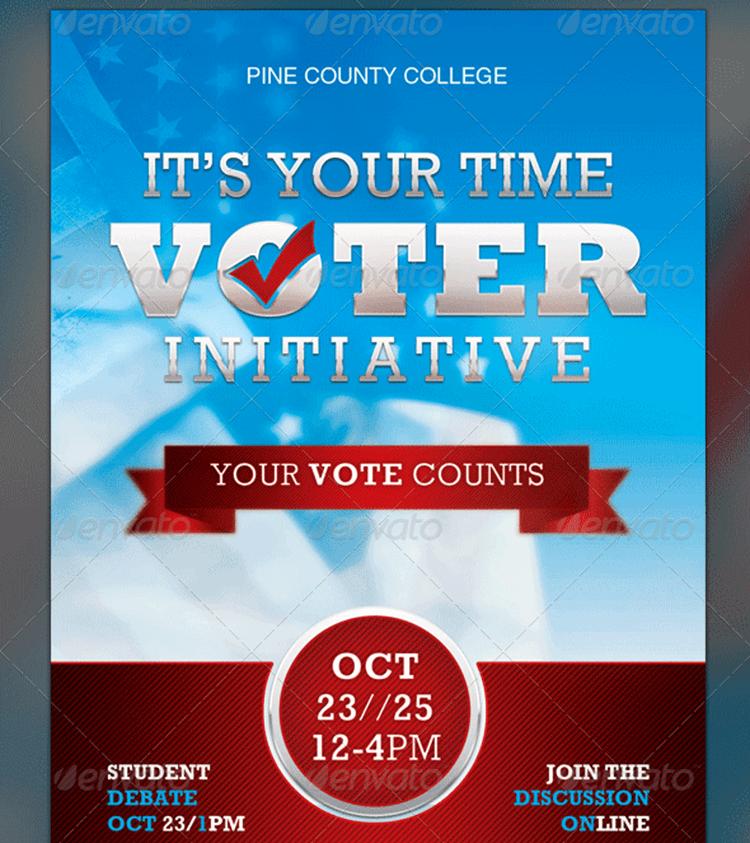Voter Registration Drive Flyer Template