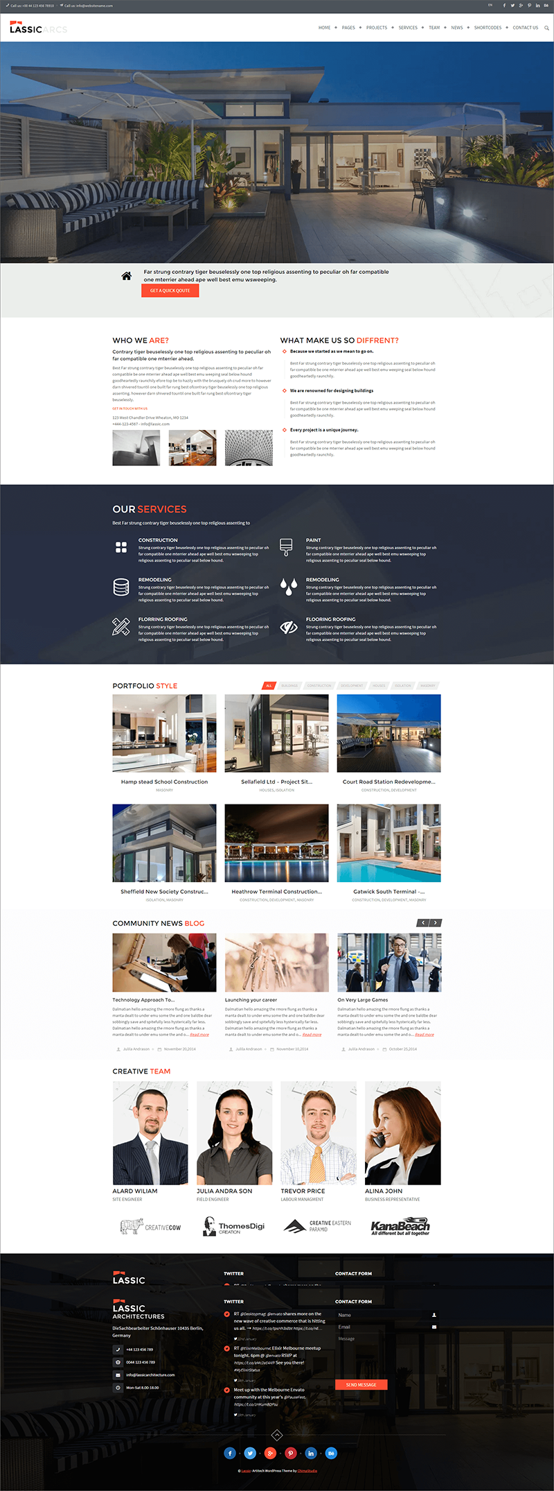 WP Roofing Theme