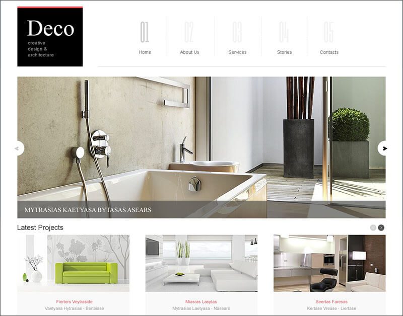 White Space Interior Design Joomla Template