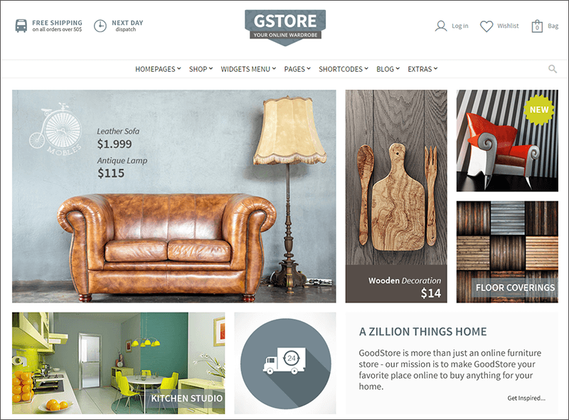 WooCommerce Furniture Store Template