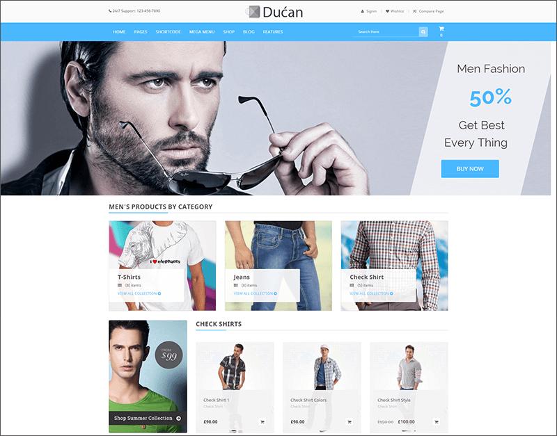 Woocommerce Online Store WP Theme
