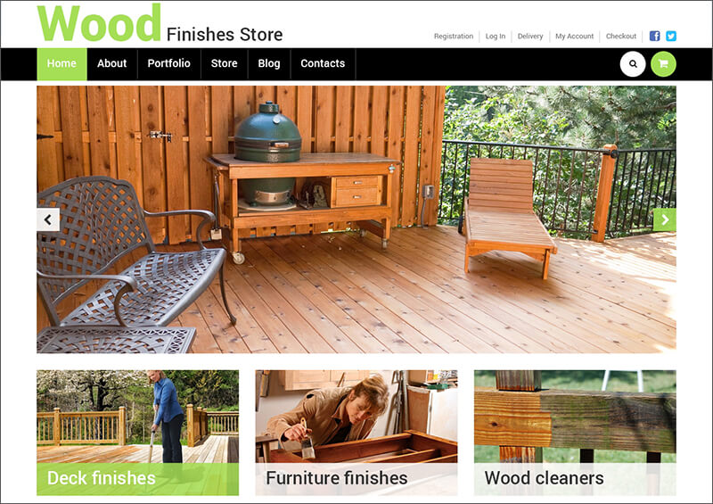 Wooden Furniture Store WooCommerce Theme