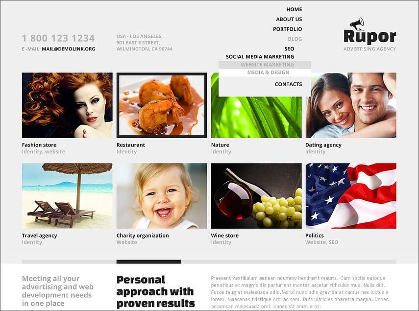 WordPress Advertising Agency Theme