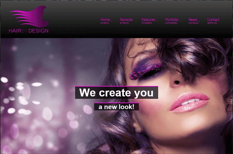 WordPress Theme For Hair Dresser