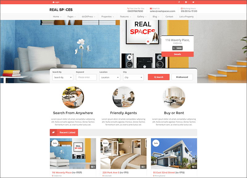 Wordpress Real Estate Blog Theme