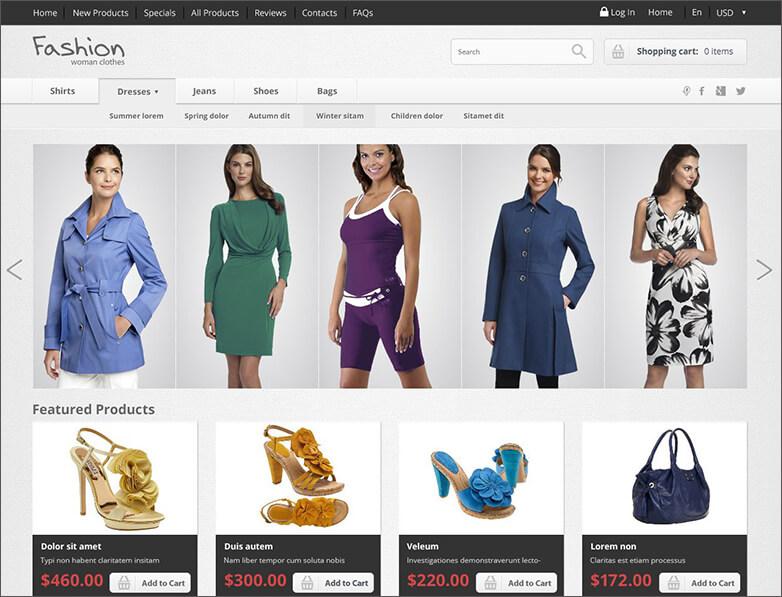 Zen Cart Fashion Store Template