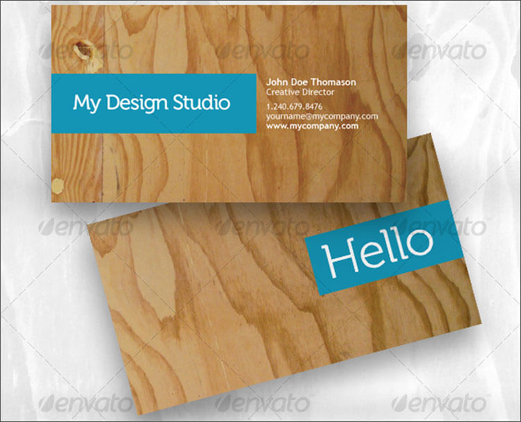business card - plywood style