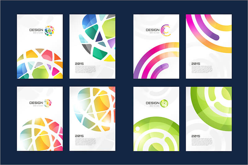 Abstract globe brochure template