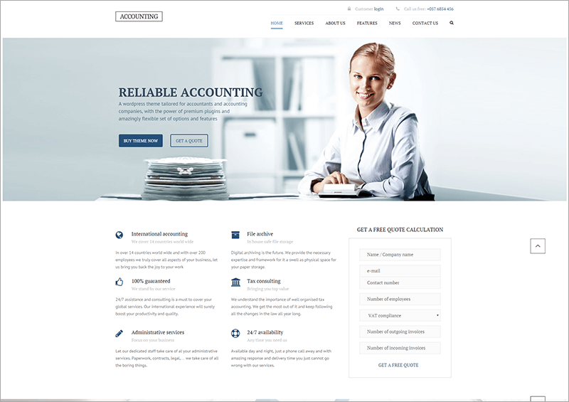 Accounting WP Business Theme