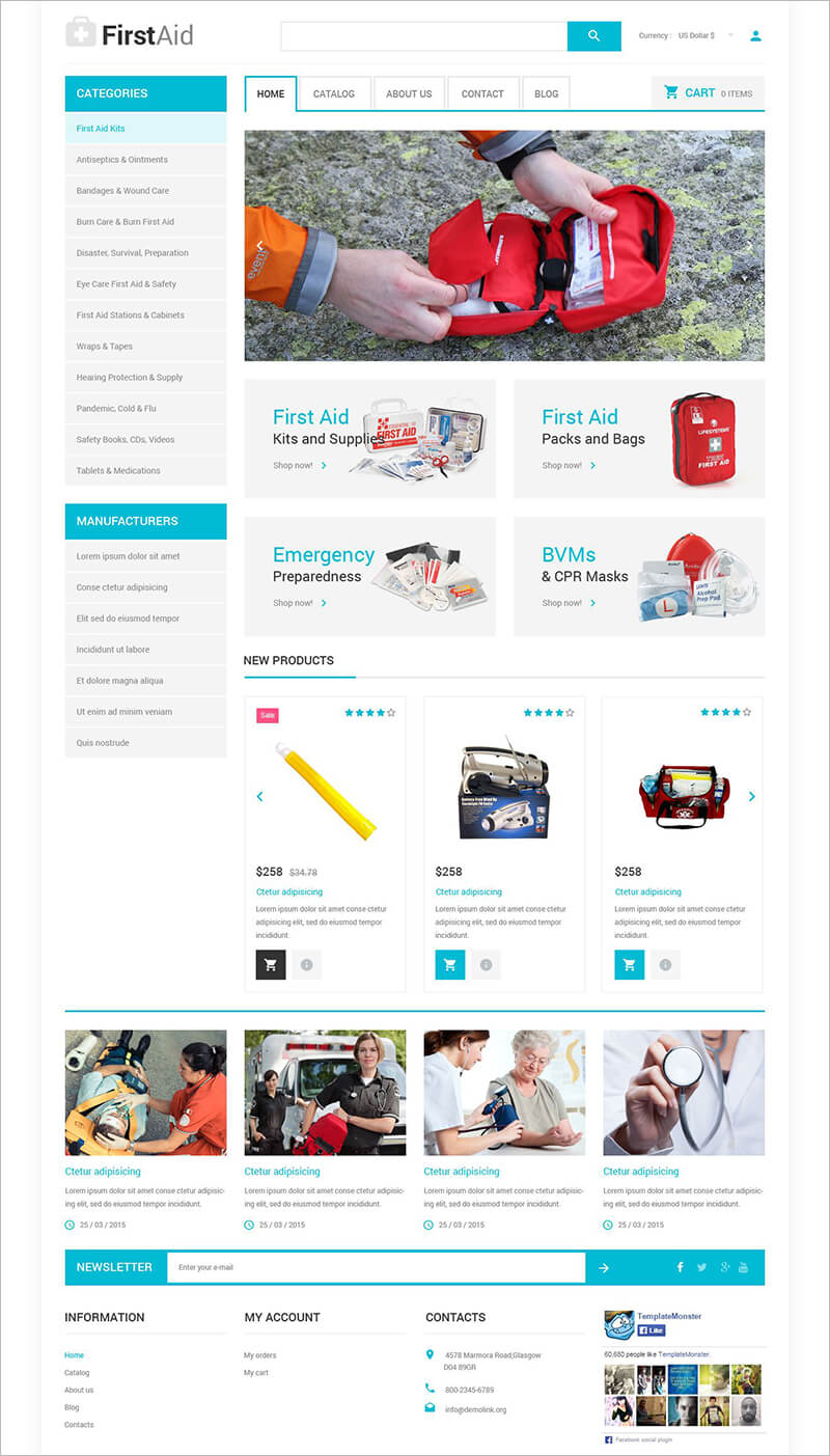 Ambulance Responsive VirtueMart Template