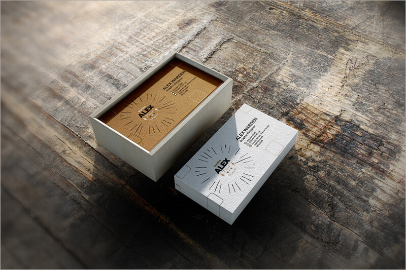 Business Card Box Mock Up