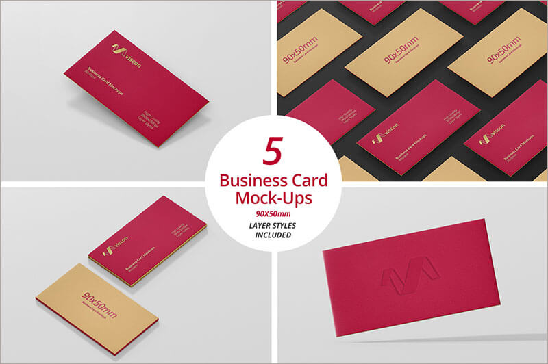 Business Card Mock Up Layer Style