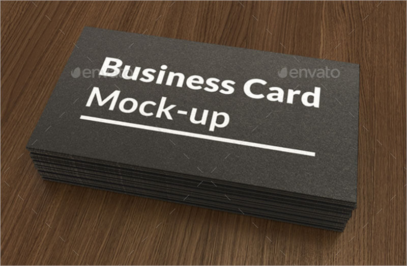 Business Card Mock up with Painted Edges