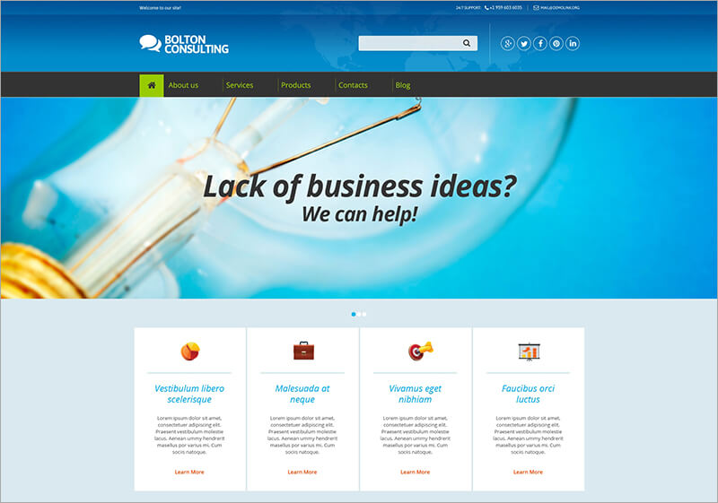 Business Consulting Drupal Template