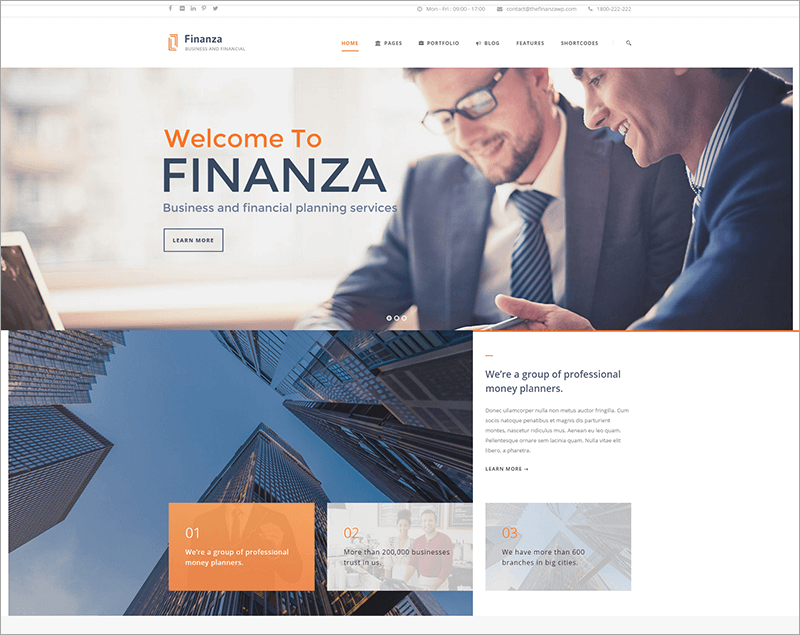Business & Financial WordPress Theme