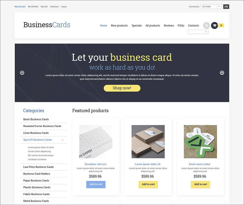 Business ZenCart Template