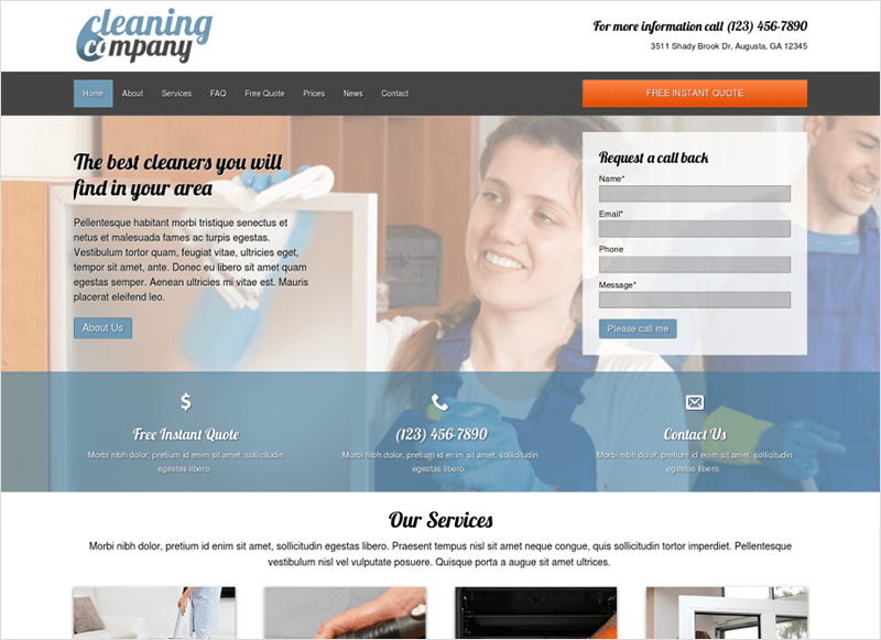 Cleaning Company WP Theme