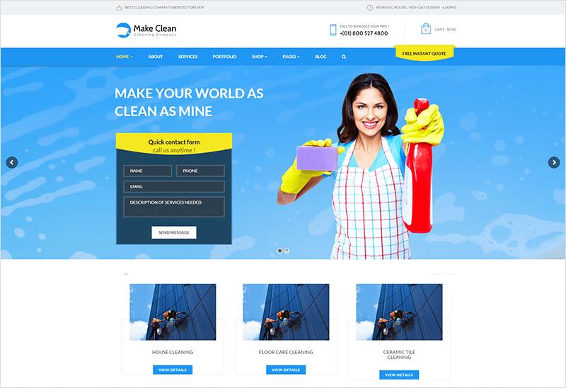 Cleaning Company WordPress Theme