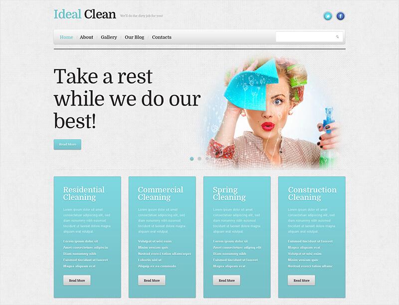 Cleaning Responsive WordPress Theme