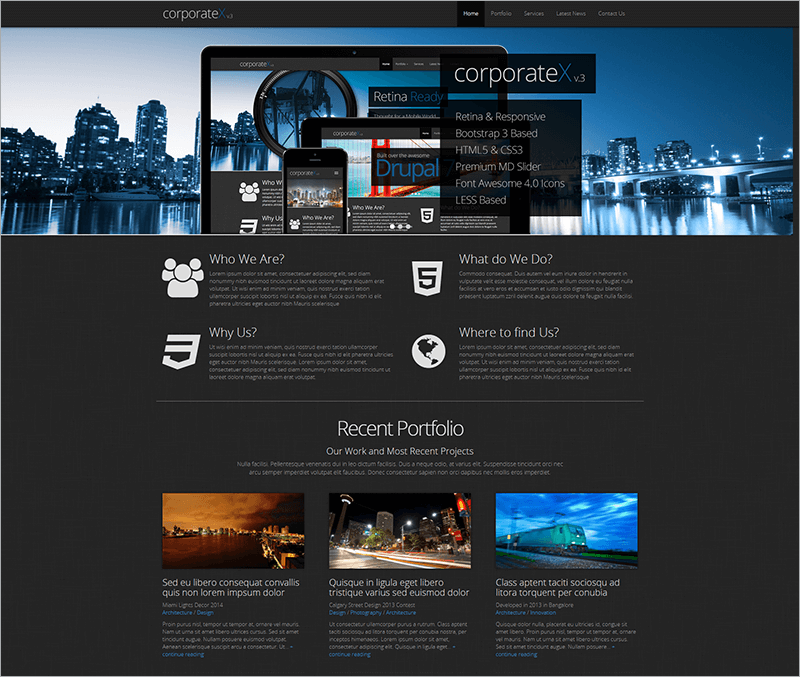 Corporate Bootstrap Drupal Theme