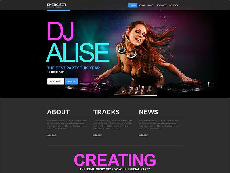DJ HTML Theme