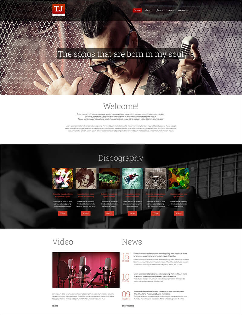 DJ Music Drupal Template