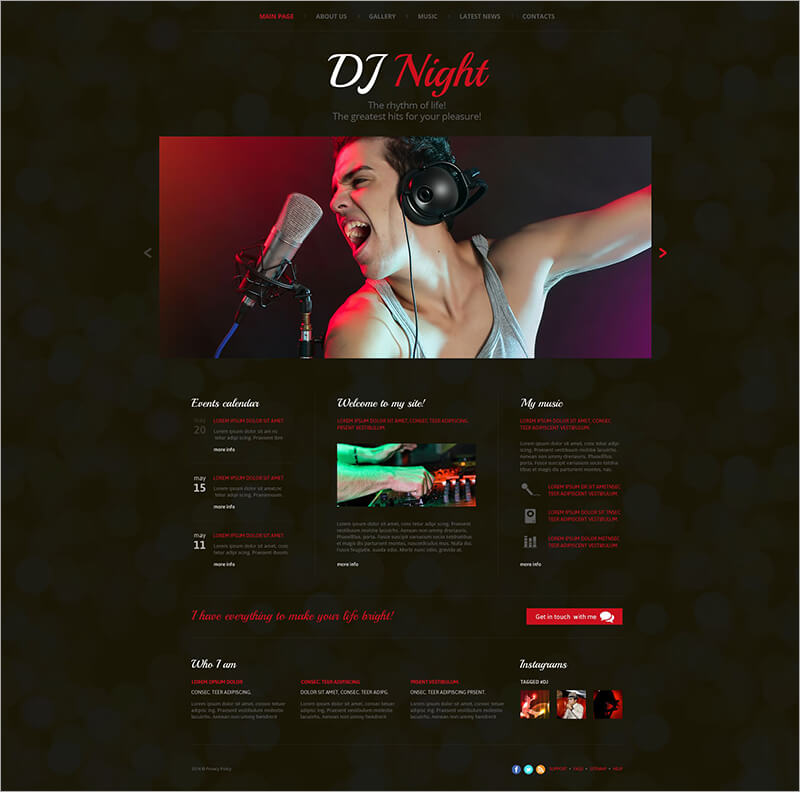 DJ Superstar Website Template