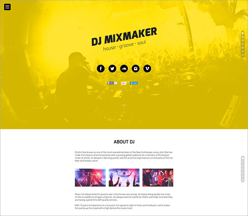 DJ Website Muse Template