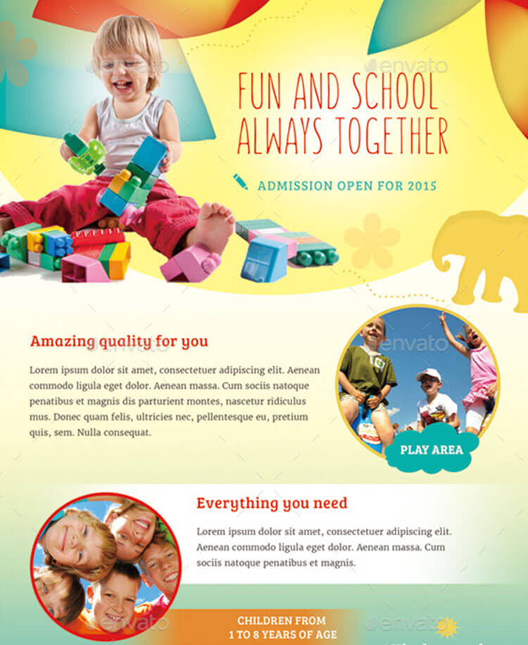 Daycare brochure templates free premium templates for Preschool brochure template