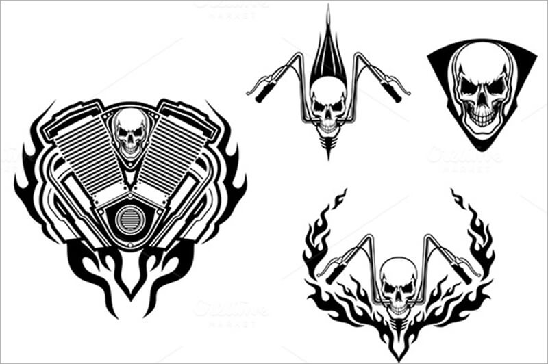 Death Monster Racing Tattoo